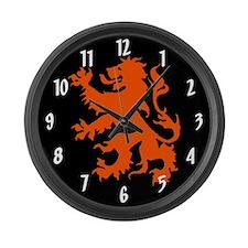 Dutch Lion Large Wall Clock