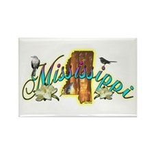 Mississippi Rectangle Magnet
