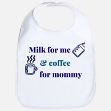 Milk & Coffee Boy Bib