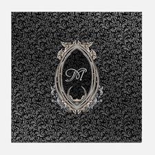 Elegant Damasks Frame Tile Coaster