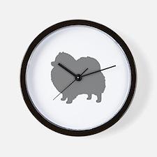 pomeranian gray 1C Wall Clock