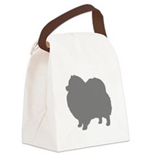 pomeranian gray 3 Canvas Lunch Bag