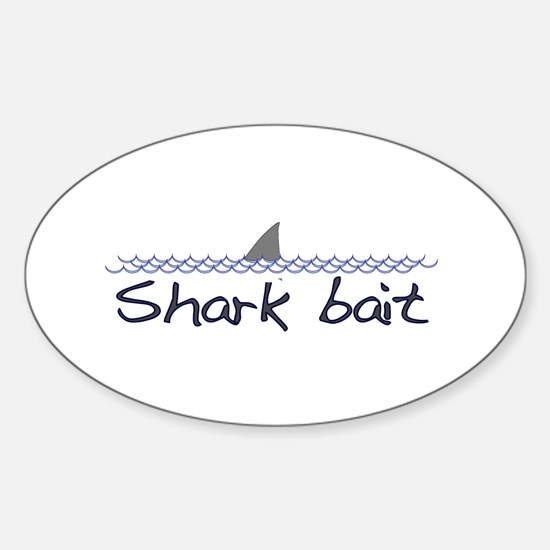 Shark Bait Oval Decal