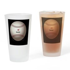 I Love Baseball Drinking Glass