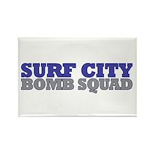 Surf City Bomb Squad Rectangle Magnet