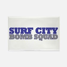 Surf City Bomb Squad Rectangle Magnet