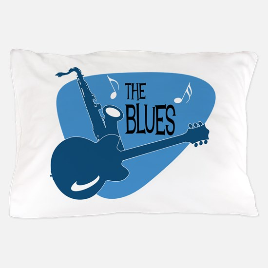 Cute Blues music Pillow Case