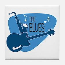 Cute Blues Tile Coaster