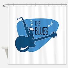 Cute Blues Shower Curtain