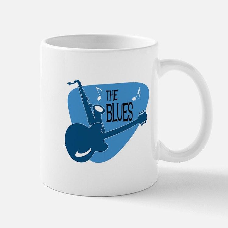 The Blues Retro Guitar Saxophone Mugs