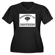 Property of my BROTHERS Women's Plus Size V-Neck D