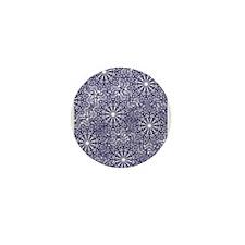 Cool Classic snowflake Mini Button