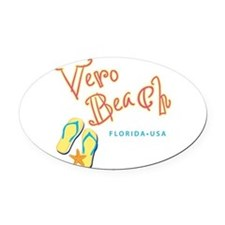 Vero Beach - Oval Car Magnet
