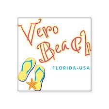 """Vero Beach - Square Sticker 3"""" x 3"""""""