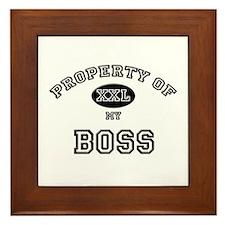 Property of my BOSS Framed Tile