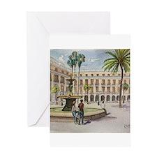 Plaça Reial Greeting Cards