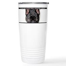 Unique French bull dog wine glass Travel Mug