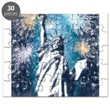 Cute Statue of liberty statue Puzzle