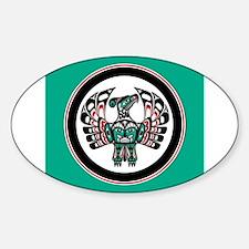 Haida Thunderbird green button Decal