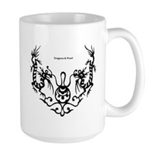 Dragons and Pearl LArge Coffee Mug