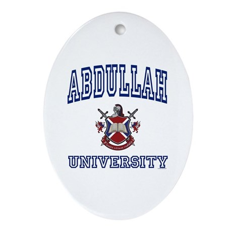 ABDULLAH University Oval Ornament