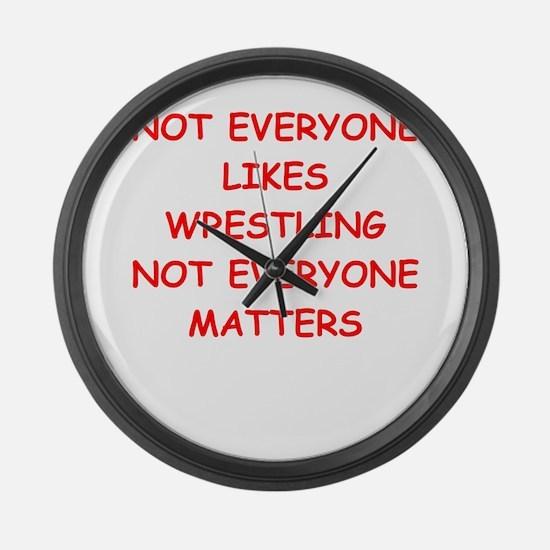 wrestling Large Wall Clock