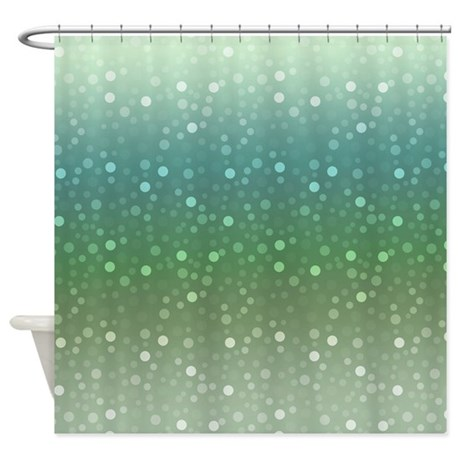 ombre confetti shower curtain by zenchic