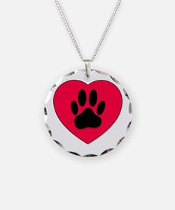 Cute Dog Necklace Circle Charm