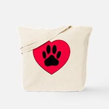 Unique Pawprints Tote Bag
