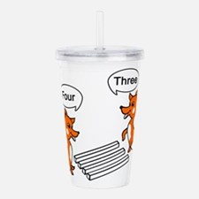 Unique Fox red Acrylic Double-wall Tumbler