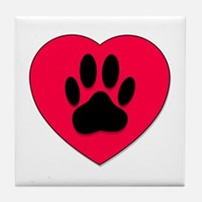 Cute Dog paw Tile Coaster