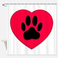 Unique Paws heart Shower Curtain