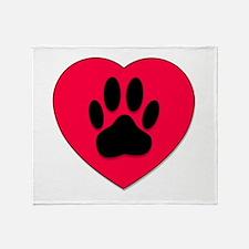 Funny Pawprint Throw Blanket