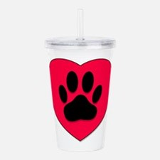 Unique Dog Acrylic Double-wall Tumbler
