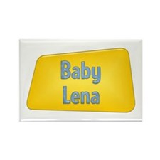 Baby Lena Rectangle Magnet