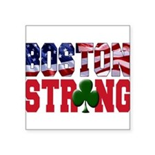 "Cute Boston strong Square Sticker 3"" x 3"""