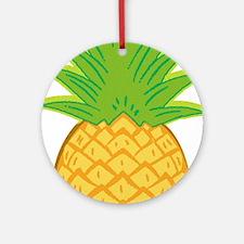 Sunny Pineapple Ornament (Round)