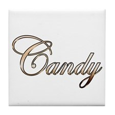 Gold Candy Tile Coaster