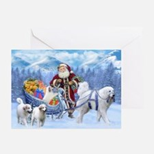 Great Pyrenees Christmas Card - Greeting Cards