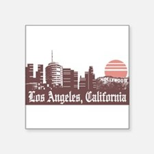 "Cute Los angeles Square Sticker 3"" x 3"""