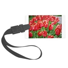 Red Tulips Luggage Tag