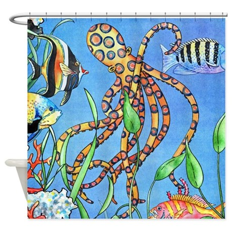 Deep Sea Life Shower Curtain