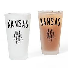 Kansas Wheat Drinking Glass