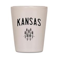 Kansas Wheat Shot Glass