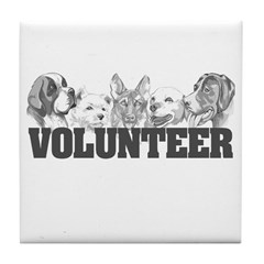 Volunteer (dogs) Tile Coaster