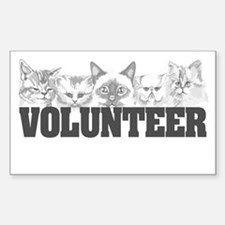 Volunteer (cats) Rectangle Decal