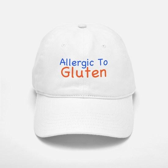 Allergic To Gluten Baseball Baseball Cap