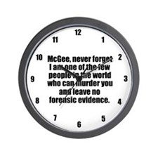 NCIS Abby Wall Clock