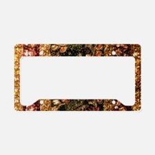Beaded Indian Saree Photo License Plate Holder