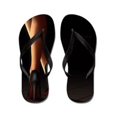 Legs on high heels Flip Flops